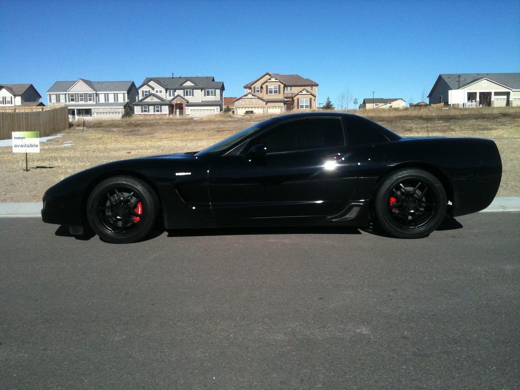 Matte Black Wheels for the Batmobile