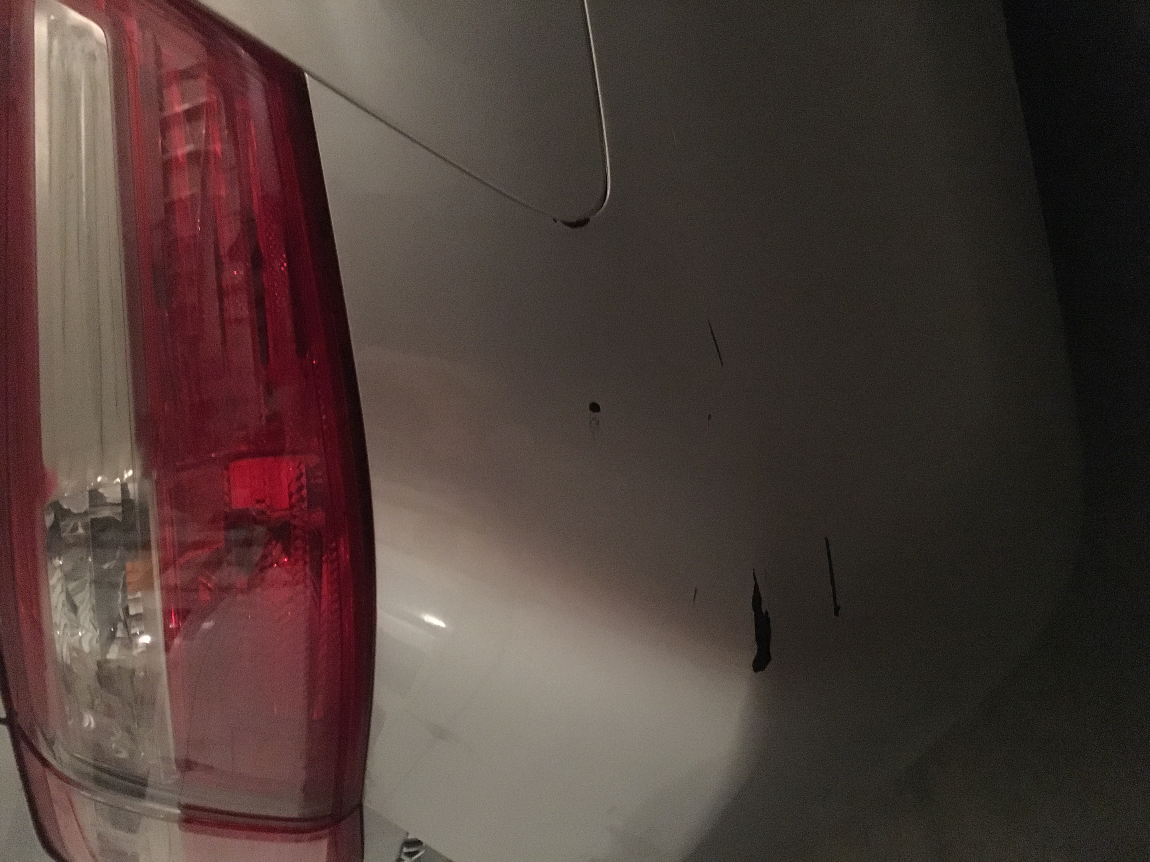 Mom's Camry Right; Rear Bumper Scratches