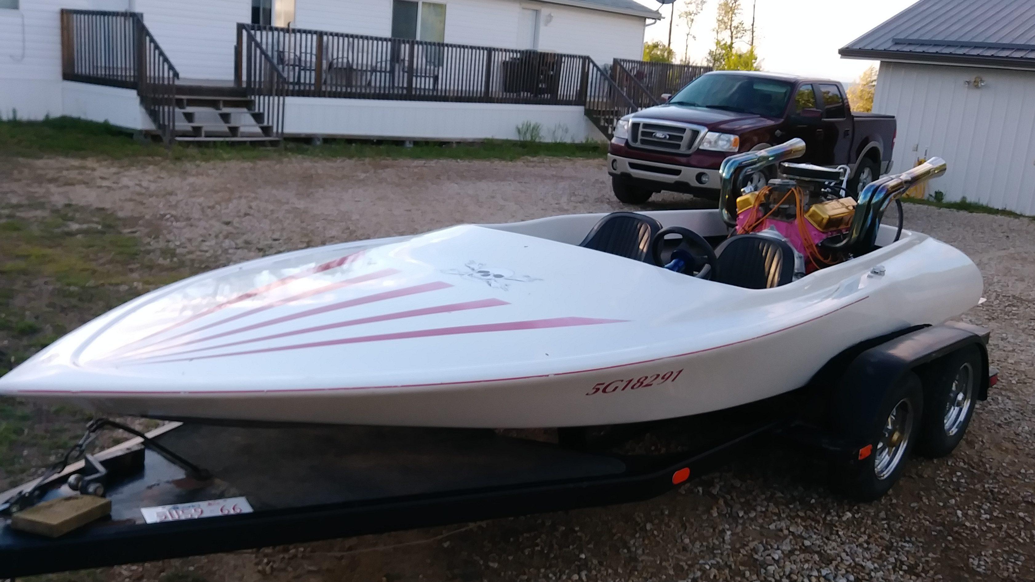 Sanger flat bottom lake boat