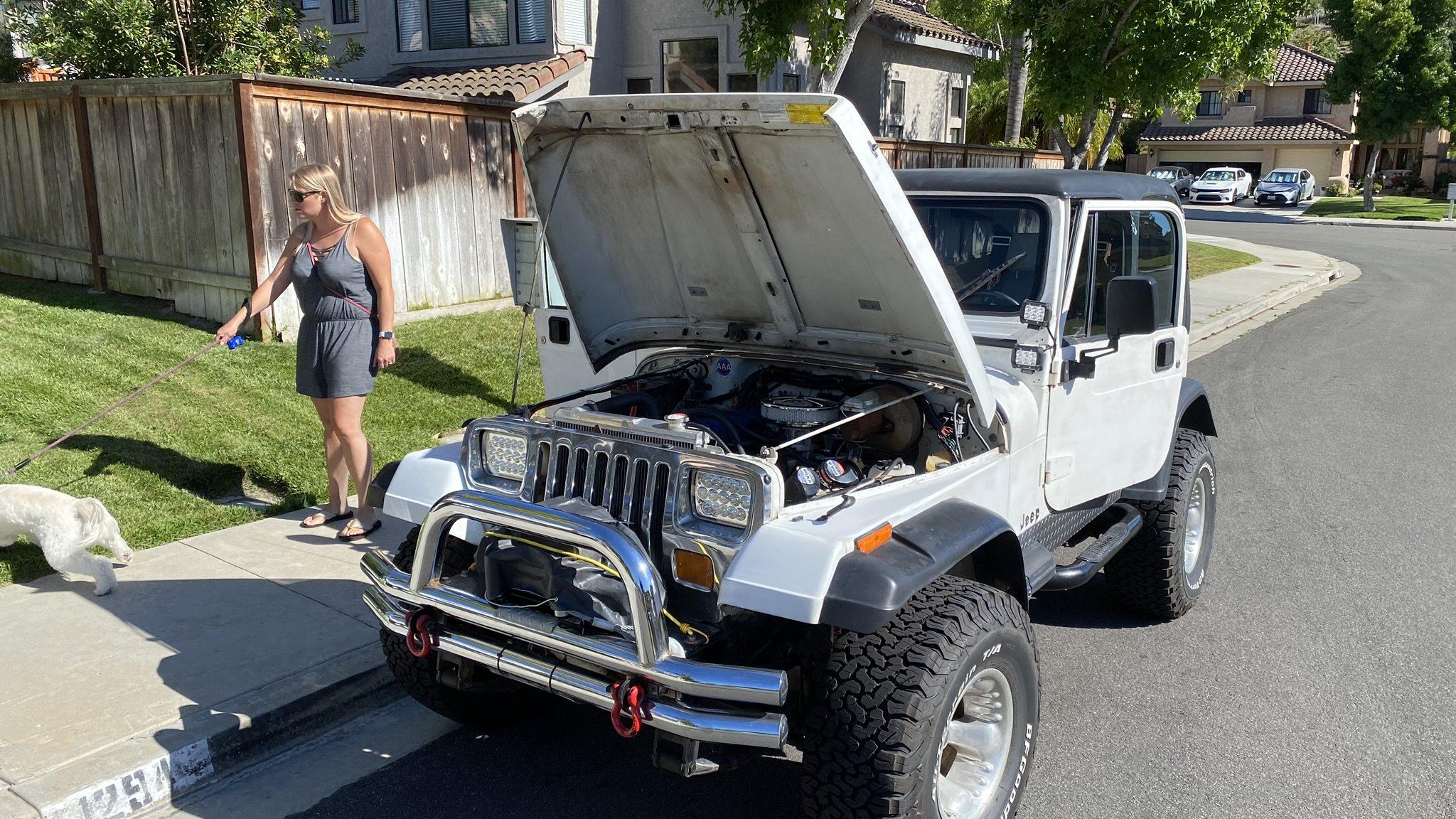 1990 Jeep YJ – Bright White