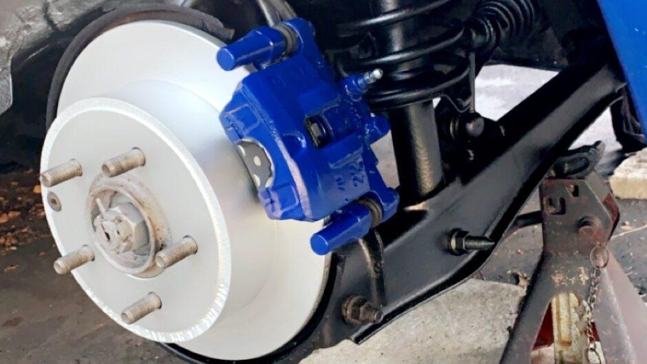 Blue brakes on my 2015 Mitsubishi Lancer