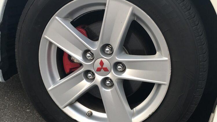 Red on my 2013 Mitsubishi Lancer